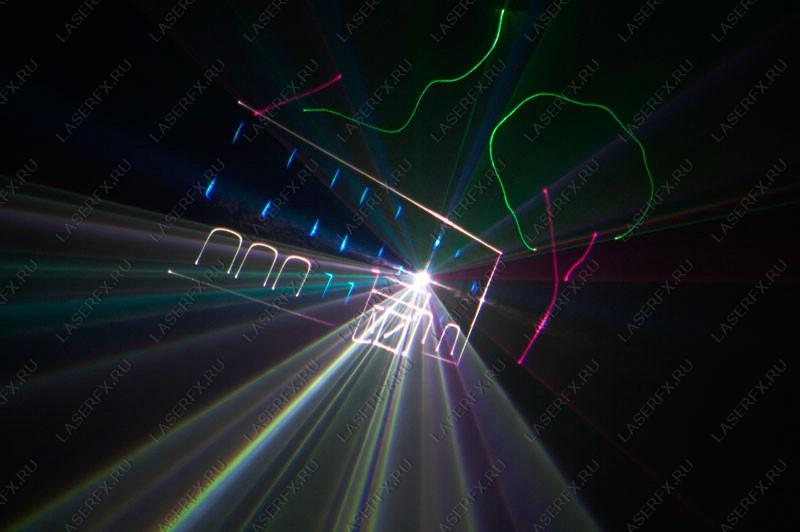 стороны лазерного шоу.