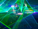 Laser show for discos